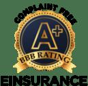 EINSURANCE A+ Rating - No Complaints